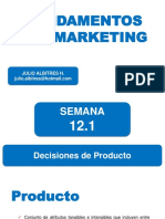 Decisiones Del Producto en Marketing