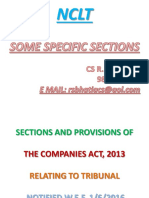 Nclt - The Companies Act, 2013 Relating to Tribunal - R S Bhatia