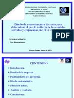 1. Diseño Estructura Costo Determinar Precio Unitario Comidas Servidas y Empacadas
