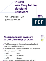 Neuropsychiatric Inventory—an Easy to Use Tool to Understand