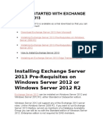 Getting Started With Exchange Server 2013