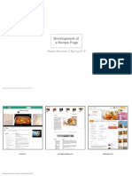 Lasagna Recipe Page Development