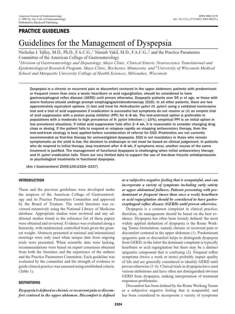 dyspepsia pdf | Indigestion | Gastroesophageal Reflux Disease