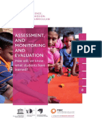 Assessment, and monitoring and evaluation