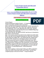 ACCT 504 Course Project Oracle and Microsoft Corporation (Devry)