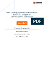 MFR (Managing Financial Resources) Individual Assignment - European LCCs and easyJet Financial Analysis