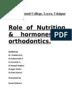 Nutrition in Orthodontics
