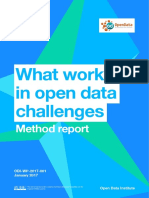 What works in open data challenges
