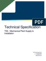 TS5 Mechanical Plant Supply Installation