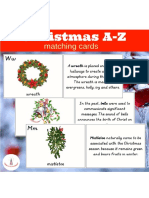 Christmas a Z Matching Cards Printables