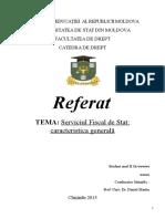 Referat Serviciul Fiscal