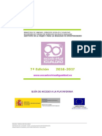 Guia de Acceso a La Plataforma de La Escuela Virtual de Igualdad