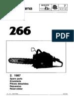Husqvarna 266 Parts List