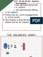 3) Air Ingress in a Boiler