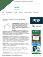Tema 7. Requerimientos de Una Instalación Eléctrica. _ Civilgeeks