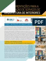 Guia de Orientacoes Para a Contratacao de Servicos de Arquitetura de Interiores