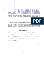 Income Tax Planning in India with respect to Individual Assessee MBA Project_215080540.docx