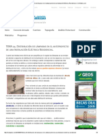 TEMA 24. Distribución de Lámparas en El Anteproyecto de Una Instalación Eléctrica Residencial. _ CivilGeeks
