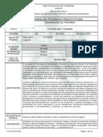 Estructura de Diseño Curricular Del Programa Contabilidad y Finanzas