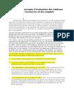 Différents concepts d'evaluation du TRE ^^