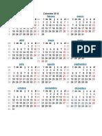 Calendario Colombia Con Festivos 2016 y 2017