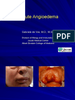 Acute Angioedema 8-31-10 Noon Conference