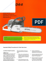 Stihl 044 Instruction Manual