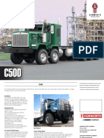 Kenworth C500 truck brochure.