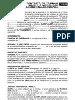 CONTRATO DE TRABAJO SUJETO A MODALIDAD ACCIDENTAL/OCASIONAL