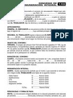 CONVENIO DE REMUNERACIÓN INTEGRAL