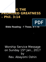2017 01 15 Claiming the Promised Greatness