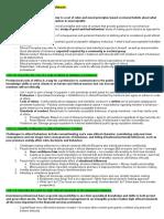 CFA Revision Notes