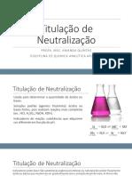 Titulometria de neutralização