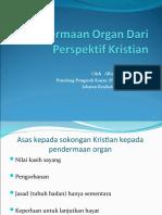 Pendermaan Organ Dari Perspektif Kristian