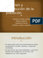 Volumen y Distribución de La Población
