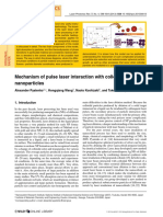 Mechanism of Pulse Laser Interaction With Colloidal