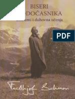 Frithjof Schuon-Biseri Hodocasnika - Aforizmi i Duhovna Ucenja