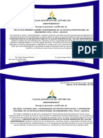 Certificado Iglesia
