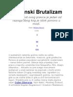 Balkanski Brutalizam