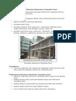 Metode Pelaksanaan Pekerjaan Alumunium Composite Panel