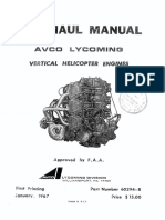 Overhaul Manual AVCO LYCOMING (Vertical Helicopter Engines)