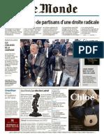 Le Monde + 2 suppléments du dimanche 20 et lundi 21 novembre 2016