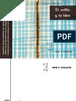 SCHOENBERG, A. - El Estilo y La Idea