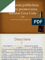 Campanie publicitara pentru promovarea sucului Coca-cola