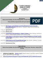 Fauquier Planning Commission Agenda Feb. 16 2017