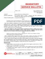 Reprint of Slick Service Bulletin SB1-12