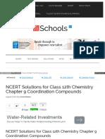 Ch 9 Coordination Compounds