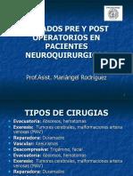Cuidados Pre y Post Operatorios en Pacientes Nueroquirúrgicos
