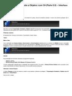 Sinergia - Programação Orientada a Objetos Com C# (Parte 6.6) – Interface
