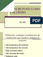 Concretos en Climas Calidos